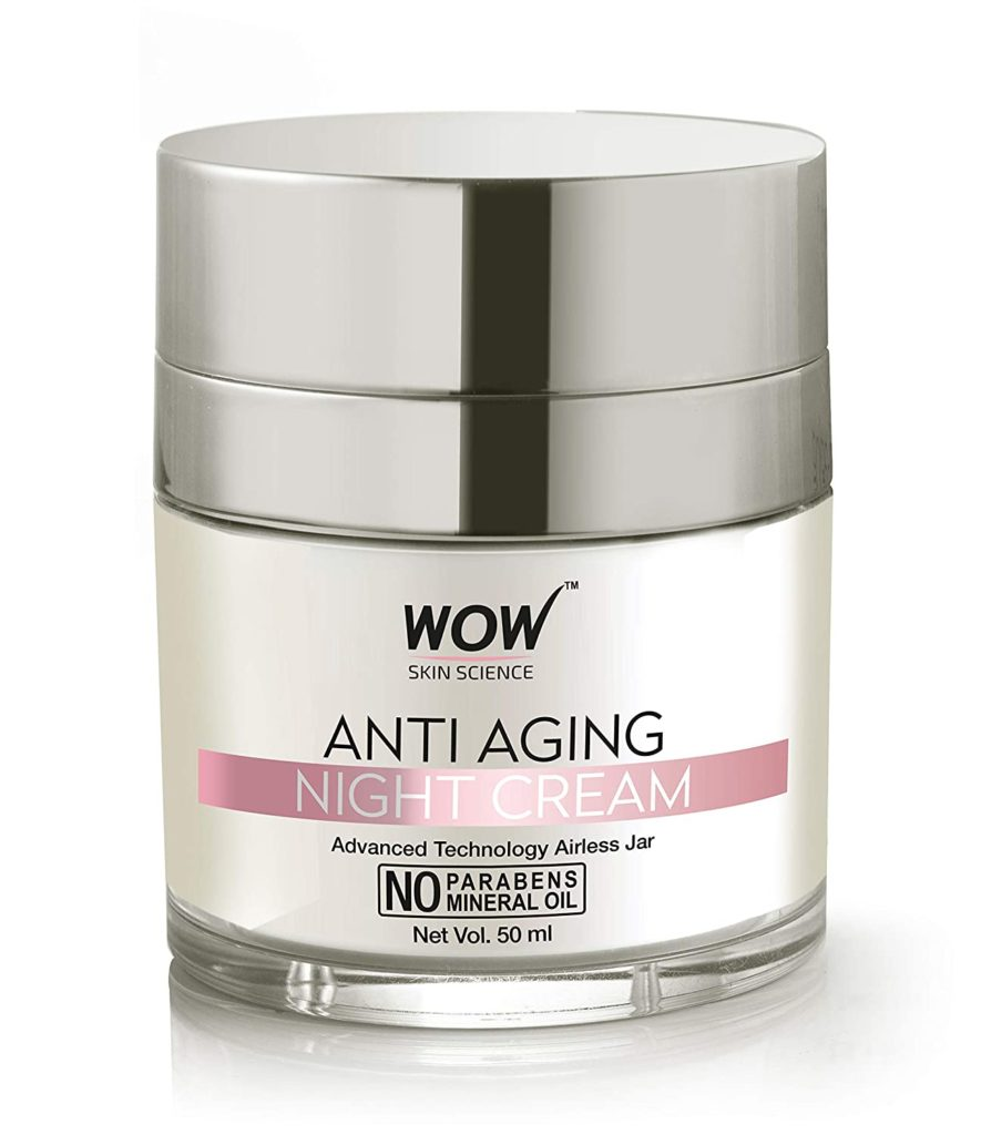 WOW anti-ageing No Parabens & Mineral Oil Night Cream.